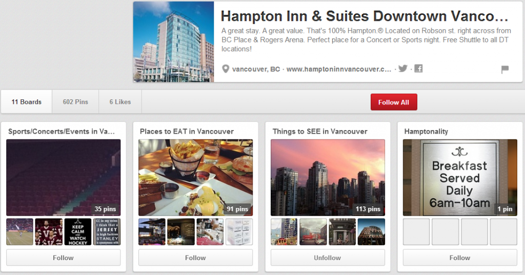 Don't make some of the poor mistakes that large hotel chains make on Pinterest. Ensure that you're Pinterest page attracts new customers and answers questions about your hotel.