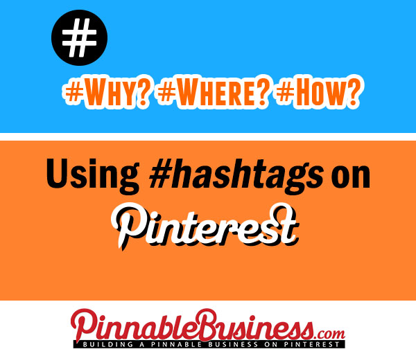 Hashtags on Pinterest