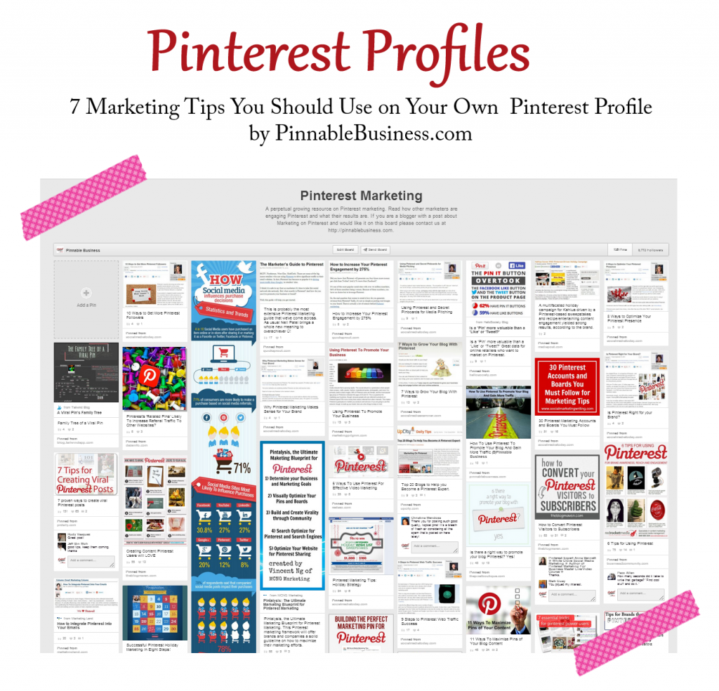 7 Marketing Tips You Should Use on Your Own Pinterest Profile by @pinnablebiz